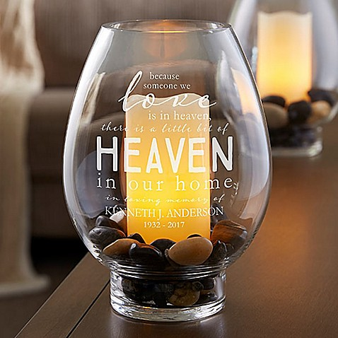 Heaven In Our Home Glass Hurricane Holder Bed Bath Amp Beyond
