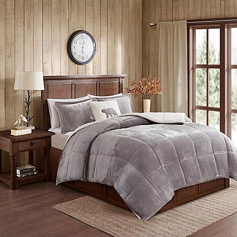 Woolrich 174 Alton Plush To Sherpa Comforter Set Bed Bath