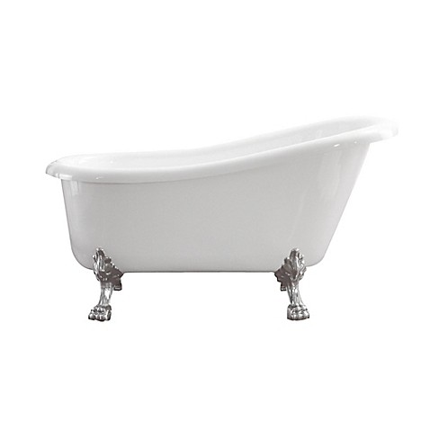 Azzuri Elise 59-Inch Freestanding Acrylic Soaking Tub in White at Bed Bath & Beyond in Cypress, TX | Tuggl