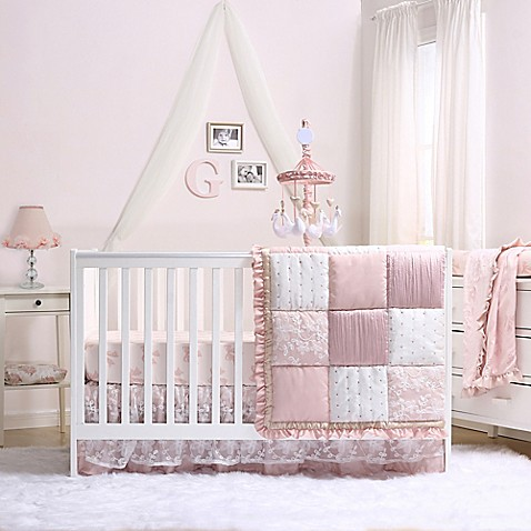 The Peanut Shell 174 Grace 4 Piece Crib Bedding Set Bed