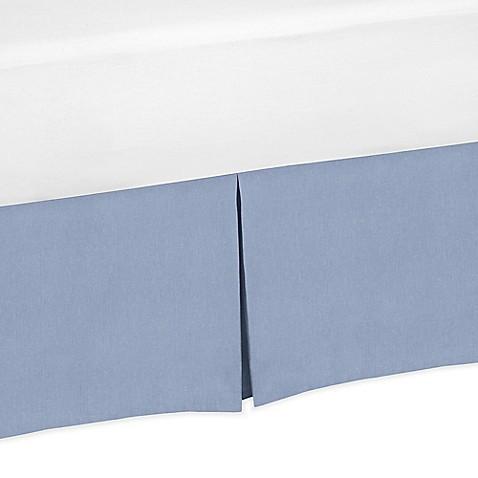 sweet jojo designs nautical nights denim crib skirt in