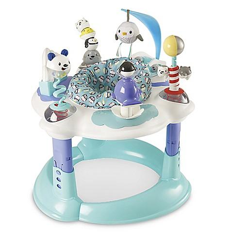 Evenflo 174 Exersaucer 174 Polar Playground In Light Blue White