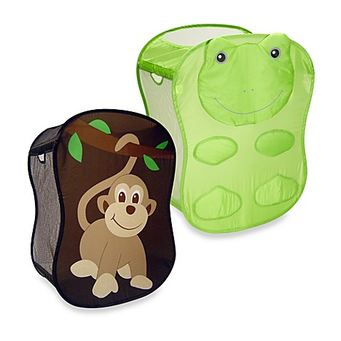 Starting small hamper and toy chest - Monkey laundry hamper ...