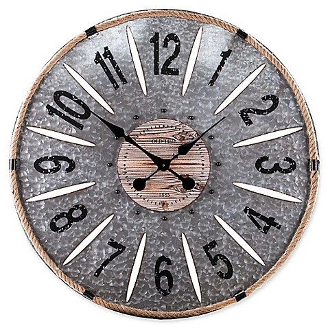 southern enterprises rayornier 36 inch round decorative oversized wall clock bed bath beyond. Black Bedroom Furniture Sets. Home Design Ideas