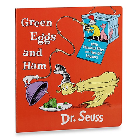 Dr. Seuss' Green Eggs and Ham with Stickers Board Book - buybuy BABY