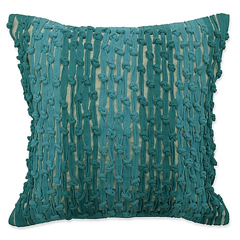 Waverly® Key of Life Knots Square Throw Pillow in Teal at Bed Bath & Beyond in Cypress, TX | Tuggl