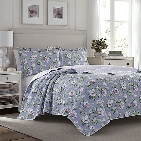 buy laura ashley carlisle reversible full queen quilt set. Black Bedroom Furniture Sets. Home Design Ideas