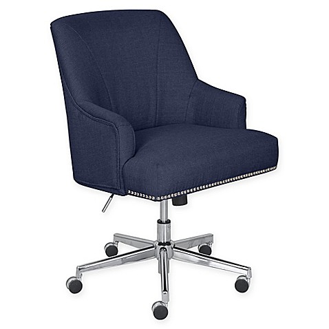 Serta 174 Leighton Twill Upholstered Office Chair Bed Bath