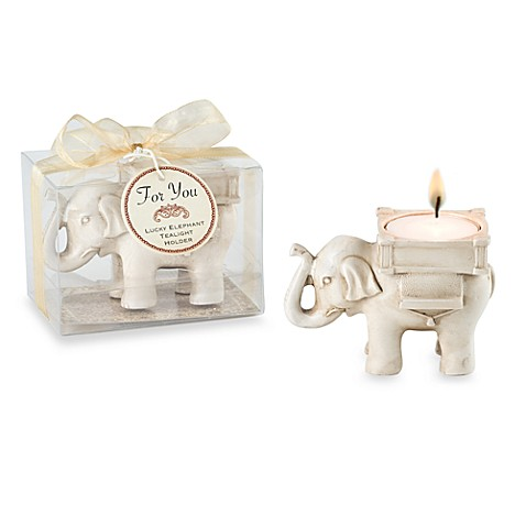 kate aspenr lucky elephant tealight holder wedding favor With kate aspen wedding favors