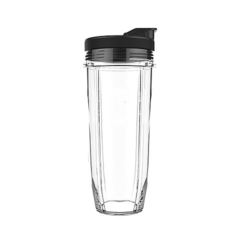 Nutri Ninja® Tritan™ 32 oz. Clear Cup with Spout Lid in Black | Tuggl