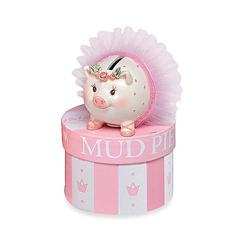 Mud pie tiny dancer mini ceramic piggy bank - Piggy bank without stopper ...