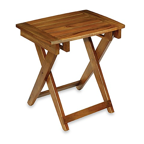 Conair Teak Folding Shower Seat Bed Bath Beyond