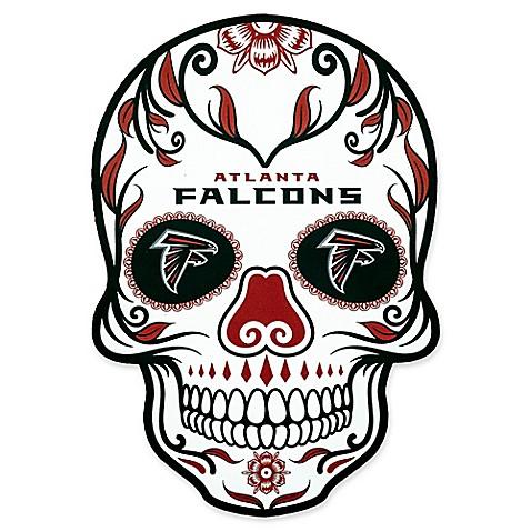 Nfl Atlanta Falcons Outdoor Dia De Los Muertos Skull Decal