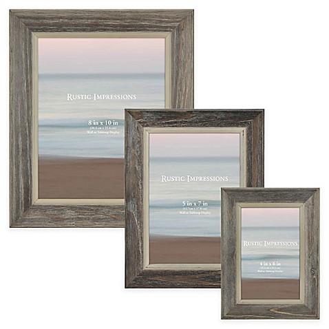 Rustic 2-Tone Wood Picture Frame in Grey at Bed Bath & Beyond in Cypress, TX | Tuggl