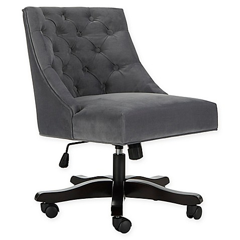 Safavieh Soho Tufted Velvet Swivel Desk Chair at Bed Bath & Beyond in Cypress, TX | Tuggl