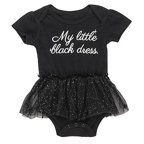 "Baby Starters® Size 6 M ""My Little Black Dress"" Tulle Skirt Bodysuit In Black by Bed Bath And Beyond"