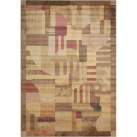 Nourison Home & Garden Somerset Abstract 9'6 x 13' Area Rug in Multi at Bed Bath & Beyond in Cypress, TX | Tuggl