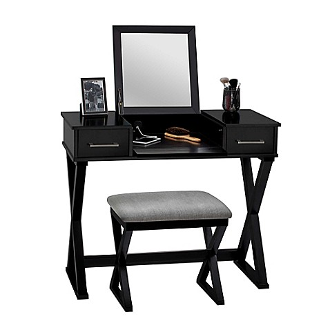 Linon Home 2-Piece Alexis Vanity Set at Bed Bath & Beyond in Cypress, TX | Tuggl