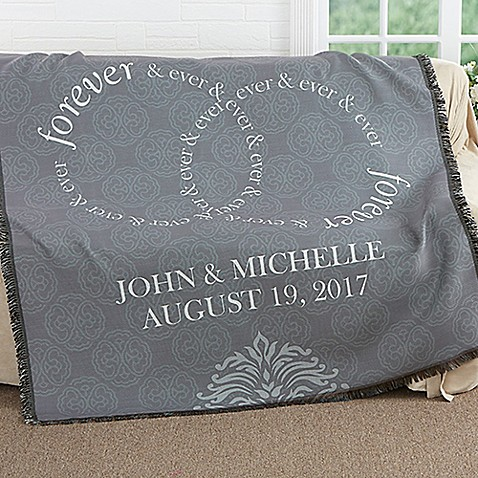 Forever & Ever Wedding Woven Throw at Bed Bath & Beyond in Cypress, TX | Tuggl
