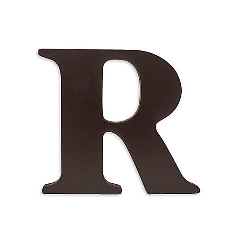 Buy KidslineTM Espresso Wooden Letter R From Bed Bath