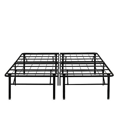 buy e rest 18 inch metal full platform bed frame in black from bed bath beyond. Black Bedroom Furniture Sets. Home Design Ideas