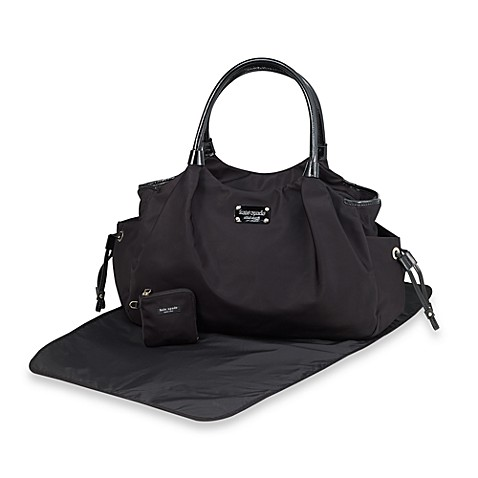 kate spade new york stevie black diaper bag. Black Bedroom Furniture Sets. Home Design Ideas