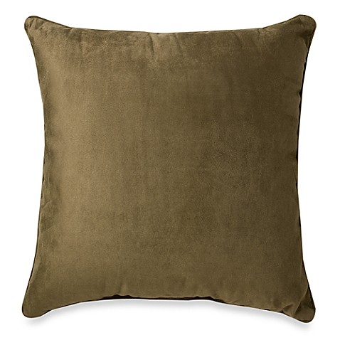 Suede 20-Inch Square Throw Pillow - Bed Bath & Beyond