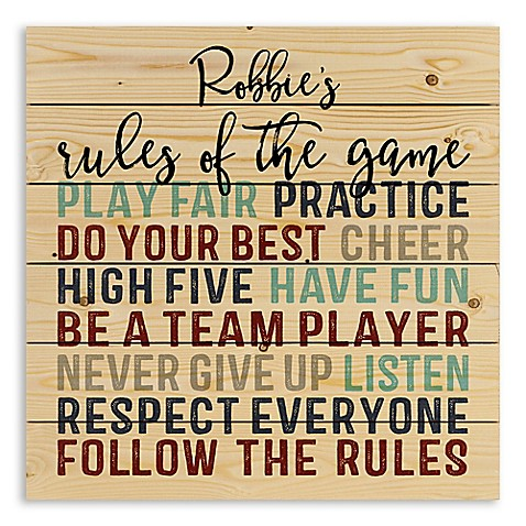 Designs Direct Rules of the Game Wooden Wall Art at Bed Bath & Beyond in Cypress, TX | Tuggl