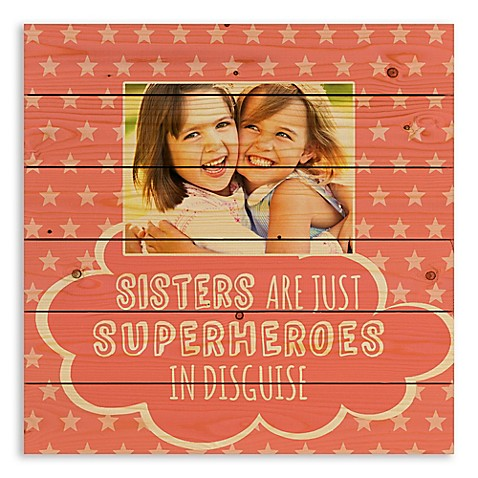 Designs Direct Sister are Superheroes Wooden Wall Art at Bed Bath & Beyond in Cypress, TX | Tuggl