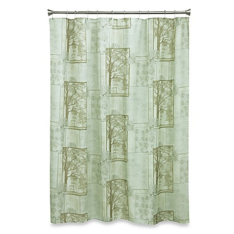 Solitude 70 Inch X 72 Inch Fabric Shower Curtain Bed
