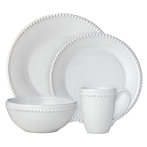 Lenox® French Carved™ Pearl 4-Piece Place Setting in White at Bed Bath & Beyond in Cypress, TX | Tuggl