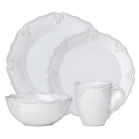 Lenox® French Carved™ Scalloped Dinnerware Collection in White at Bed Bath & Beyond in Cypress, TX | Tuggl