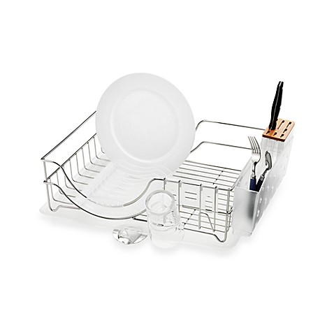 buy simplehuman 174 dish rack system from bed bath beyond