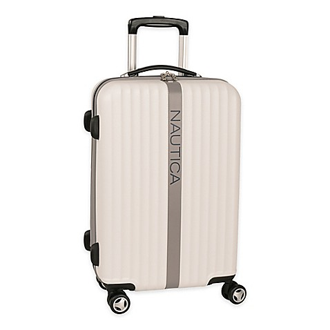 Nautica® Surfer's Paradise Hardside 21 Inch Upright Spinner In Bright White by Bed Bath And Beyond