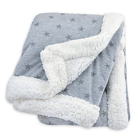 Just Born 174 Plush Star Blanket Buybuy Baby