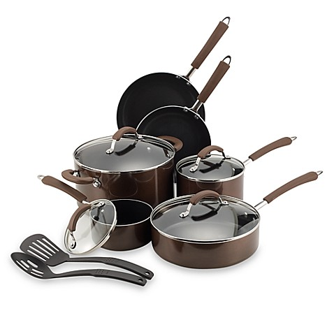 Farberware® Millennium Bronze Nonstick Enameled Aluminum 12-Piece Cookware Set and Open Stock ...