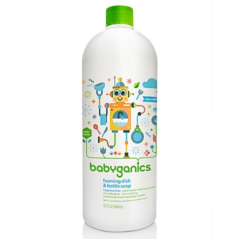 Babyganics 174 32 Oz Fragrance Free Foaming Dish Amp Bottle