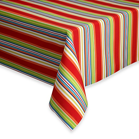 Mystic Stripe Indoor Outdoor Tablecloth Bed Bath Amp Beyond