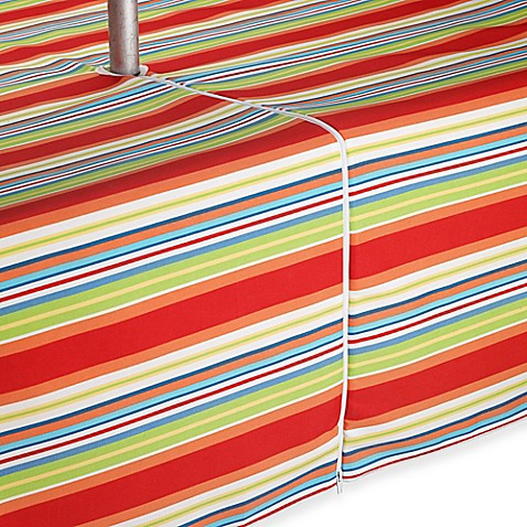 Buy Mystic Stripe 70 Inch Round Umbrella Tablecloth From