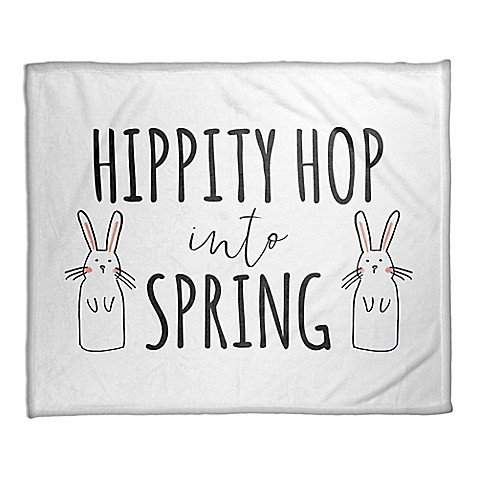 """Designs Direct """"Hippity Hop Into Spring"""" Fleece Throw Blanket at Bed Bath & Beyond in Cypress, TX 