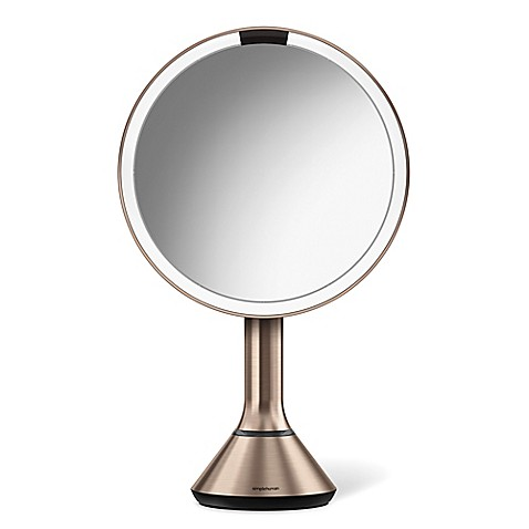 Simplehuman® 5 X Sensor Brightness Control 8 Inch Mirror In Rose Gold by Bed Bath And Beyond