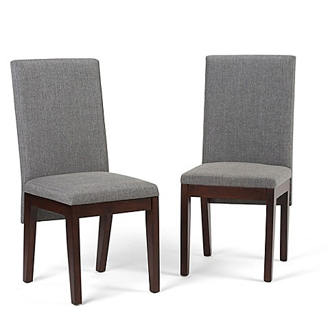 Simpli Home™ Upholstered Dining Chairs in Grey (Set of 2) at Bed Bath & Beyond in Cypress, TX   Tuggl