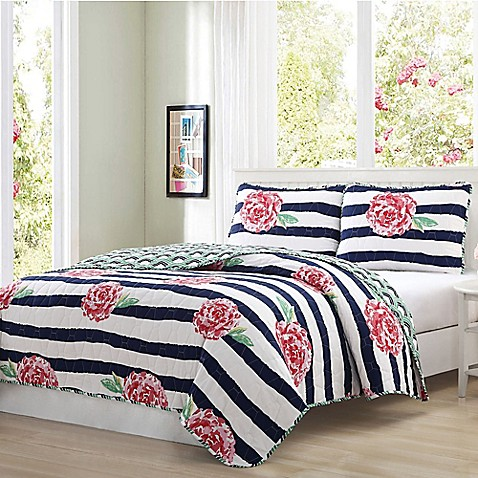 Quaint Home Marielle Reversible Quilt Set at Bed Bath & Beyond in Cypress, TX | Tuggl