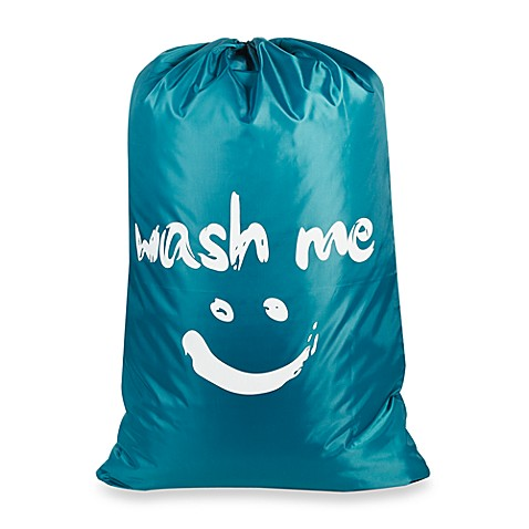 """Wash Me"" Novelty Laundry Bag in Blue at Bed Bath & Beyond in Cypress, TX 