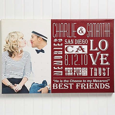 Our Life Together Photo Canvas Print at Bed Bath & Beyond in Cypress, TX | Tuggl