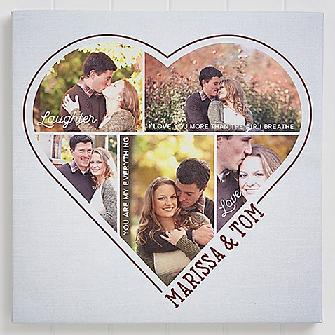 The Heart Of A Couple 5 Photo Canvas Print at Bed Bath & Beyond in Cypress, TX | Tuggl