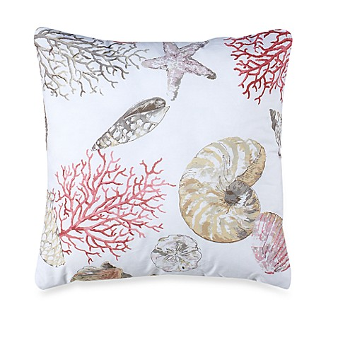 Madison Square 18-Inch Decorative Pillows : Seashore 18-Inch Square Throw Pillow - Bed Bath & Beyond