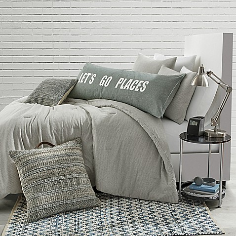 Shoptagr Stripe Jersey Twin Twin Xl Comforter Set In Grey By Bed