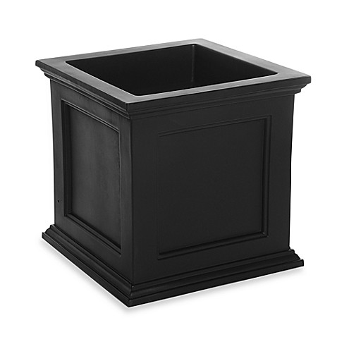 Mayne Fairfield 20 Inch X 20 Inch Patio Planter In Black