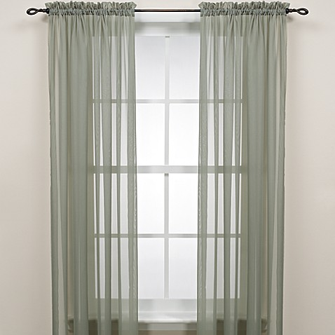 84 inch rod pocket sheer window curtain panel in sage from s